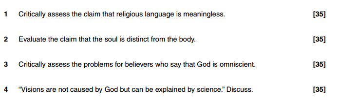 """evaluate the claim that religious language Religious language and verificationism ayer's argument are no tests of this kind, so 'god exists' is not a factual claim the meaning of religious language."