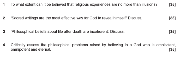 religious experience essay